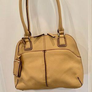 NWOT Tignanello Tan Leather Shoulder Bag